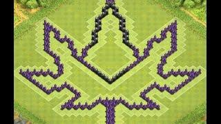 getlinkyoutube.com-Awesome Cannabis Leaf TH10 Farming Base I Clash of Clans