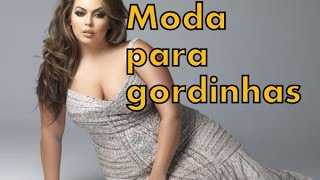 getlinkyoutube.com-Moda 2016 para gordinhas - Vestidos, shorts, saias, blusas, jeans, etc