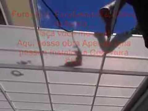 Cobertura de Policarbonato com Telhas CLICK cor pérola Refletiva- Instalação Na Prática