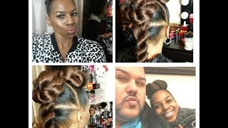 getlinkyoutube.com-TWIST UPDO TUTORIAL W/KANEKALON HAIR By HairByRaymond