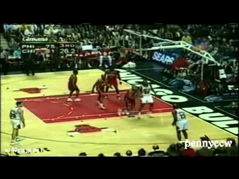 Allen Iverson 40 point games | #1 | 44 pts vs Michael Jordan Scottie Pippen the Bulls [1997-04-07]