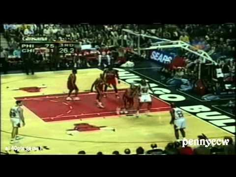 Allen Iverson 40 point games | #1 | 44 pts vs Michael Jordan Scottie Pippen the Bulls [1997-04-07]