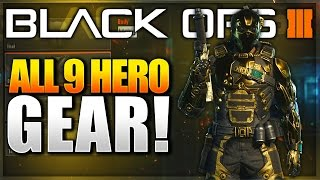 "getlinkyoutube.com-Black Ops 3 ALL 9 ""Hero Gear"" UNLOCKED! BO3 Hero Specialist Showcase! (BO3 HERO GEAR GAMEPLAY)"
