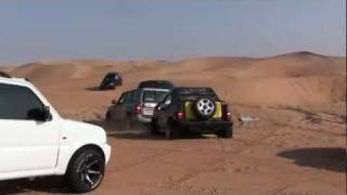 getlinkyoutube.com-have fun with Suzuki in Liwa Desert - UAE