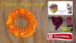 getlinkyoutube.com-Decorar Liga para el Cabello Ganchillo con cuentas (Crochet)