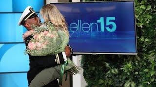Ellen Reunites Superfan with Her Navy Boyfriend