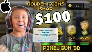 getlinkyoutube.com-Kid Spends $100 In-App Purchase!!! (Pixel Gun 3D All Guns) WHAT THE WHAT MIKE?!?! pt. 15