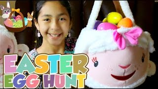 getlinkyoutube.com-Easter Egg Hunt Lambie Easter Basket + Surprise Eggs Opening|B2cutecupcakes