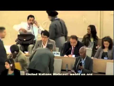 Sardar Shaukat Ali Kashmiri speaks at UN's Human Rights Council