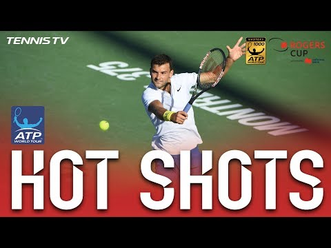 Hot Shot: Dimitrov Nails Sensational No Look Overhead Shot Montreal 2017