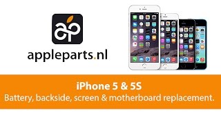 getlinkyoutube.com-Apple Parts | iPhone 5/5S Battery, backside, screen and motherboard replacement