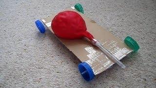 getlinkyoutube.com-How to Make an Air Powered Balloon Car