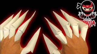 getlinkyoutube.com-How to make: Origami Claws