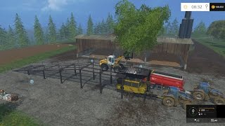 getlinkyoutube.com-LS15 - Ganze Bäume mit dem Baumheber in den Crasher laden - Mod Vorstellung