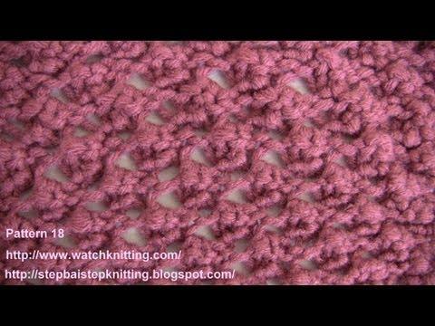 (Raspberry stitch) - Lace Knitting Patterns- Free Knitting Tutorials - Watch Knitting - pattern 18
