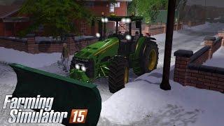 getlinkyoutube.com-Farming Simulator 15 - Snow Removal John Deere 8330 (Winter & Snow mod)
