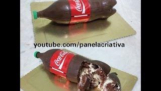 getlinkyoutube.com-Bolo garrafa de Coca-Cola, bolo bombom. Como fazer?!