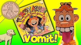 getlinkyoutube.com-Tommy Tummy Ache Junk Food Game, He Throws Up! Colorforms Family Game!