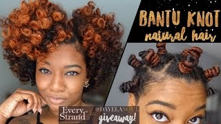 Defined Bantu Knot Out Breakdown | Short/Medium Natural Hair | + Every Strand TM (GIVEAWAY CLOSED)