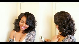 getlinkyoutube.com-Quick $26 Bombshell: Sensationnel Empress Natural Curved Part Lace Front Wig Nova!