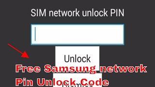 SIM Network Unlock PIN (Free Code) Unlock Codes for Samsung J1,J2,J3,J5,J7,G532