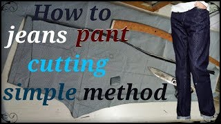 How to men's jeans pant cutting esay method in hindi