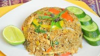 getlinkyoutube.com-How to Make Thai Spicy Chicken Fried Rice ข้าวผัดพริกไก่