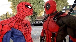 getlinkyoutube.com-Spiderman VS Deadpool - EPIC spider man