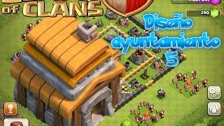 getlinkyoutube.com-Diseño aldea ayuntamiento nivel 5 Clash of clans