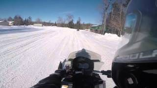 Snowmobiling Old Forge January 2015