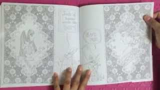 getlinkyoutube.com-Preview Alice in wonderland Coloring book, Korea illustrated Lee Jaeeun