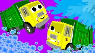 getlinkyoutube.com-Garbage Truck Car Wash