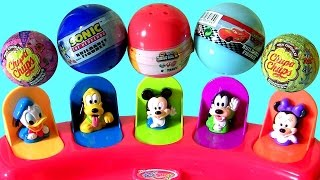 getlinkyoutube.com-Disney Baby Mickey Mouse Clubhouse Pop-Up Pals Surprise Chupa Chups Collection Minnie Donald Goofy
