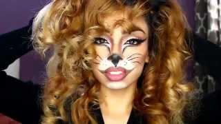 getlinkyoutube.com-Lioness Halloween Makeup Tutorial
