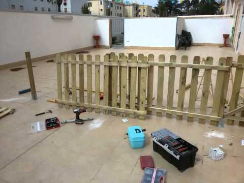 Come costruire una recinzione fai da te mania for Costruire cancello legno