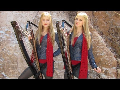 Twins Perform Dr. Who Theme on Electric Harps