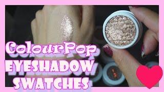 getlinkyoutube.com-Colourpop Eyeshadow Swatches