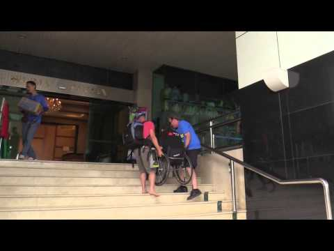 The tale of Lonnie Bissonnette who jumps off buildings in his wheelchair, determined to stay in the