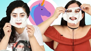 """People Try A """"Unicorn"""" Face Mask"""