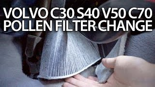 getlinkyoutube.com-How to change pollen filter Volvo C30 S40 V50 C70 (cabin air filter replace service)