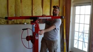 getlinkyoutube.com-Harbor Freight drywall lift hoist  69377 Tool unboxing and review