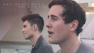 getlinkyoutube.com-What Do You Mean / One Last Time MASHUP (Justin Bieber/Ariana Grande) - Sam Tsui & Casey Breves