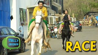 getlinkyoutube.com-Maharana Pratap And Chand Horse Riding Competition | Maharana Pratap | Sony Tv