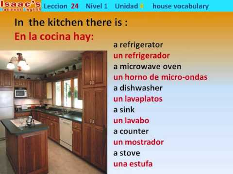 Curso de Ingles gratis  24.  nivel 1  there is there are  HOUSE VOCABULARY