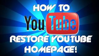 getlinkyoutube.com-How to get the OLD YouTube layout back | Get back old channel layout and homepage YouTube