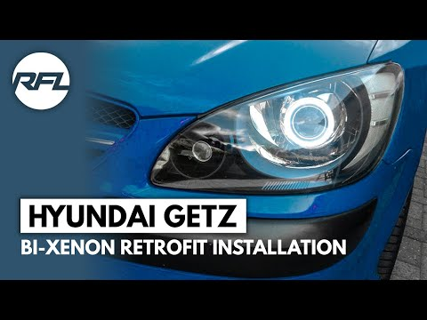 Hyundai Getz 2006-2009 D2S 3.0 projector bi-xenon HID retrofit installation