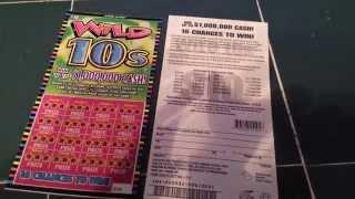 getlinkyoutube.com-WILD 10s BRAND NEW IL. LOTTO SCRATCH-OFF!!!!!!