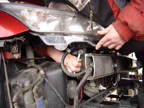 Демонтаж фары ... C4 dismantling lights