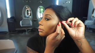 getlinkyoutube.com-Glueless Lace Wig Install HOW TO
