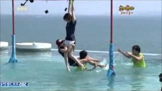 getlinkyoutube.com-Funny Video ♣4Minute(Hyun Ah)+2am(Jinwoon) vs SISTAR(HYORIN)+SS501(Jung Min)♣